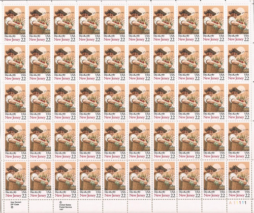US Stamp 1987 New Jersey Constitution Ratification 50 Stamp Sheet 2338