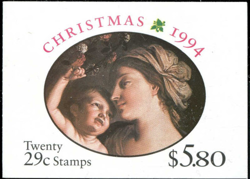 US Stamps - 1994 Christmas Madonna & Child-Booklet of 20 Stamps #BK217