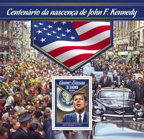 Guinea-Bissau - 2017 John F. Kennedy - Stamp Souvenir Sheet - GB17004b