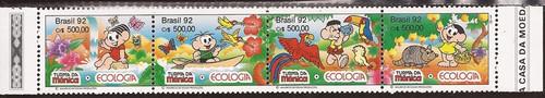Brazil - 1992 Ecology Cartoons - 4 Stamp Strip - Scott #2373a