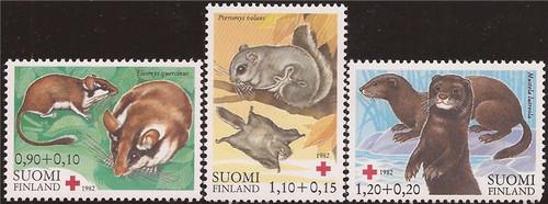 Finland - 1982 Animals Dormouse Mink - 3 Stamp Set - Scott #B227-9