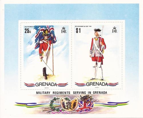 Grenada 1971 British Uniforms - 2 Stamp Sheet - Scott #433a