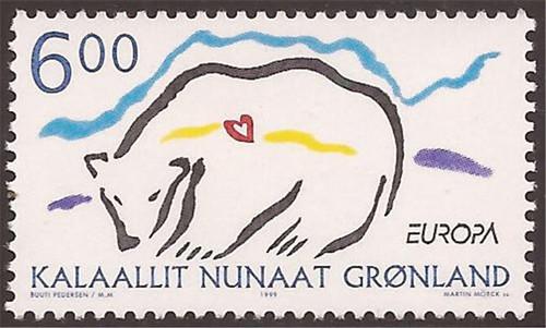 Greenland - 1999 Europa Nature Reserves Stamp - Scott #348