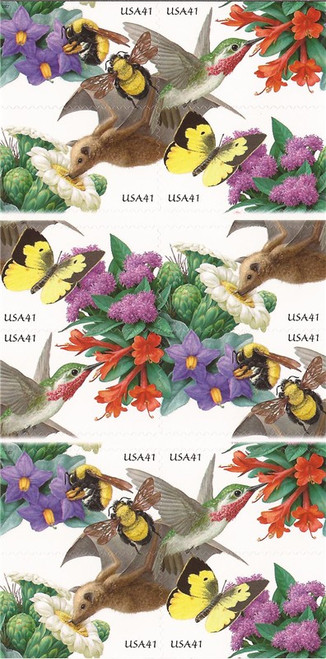 US Stamp - 2007 Pollination - Booklet Pane of 20 Stamps #4156a