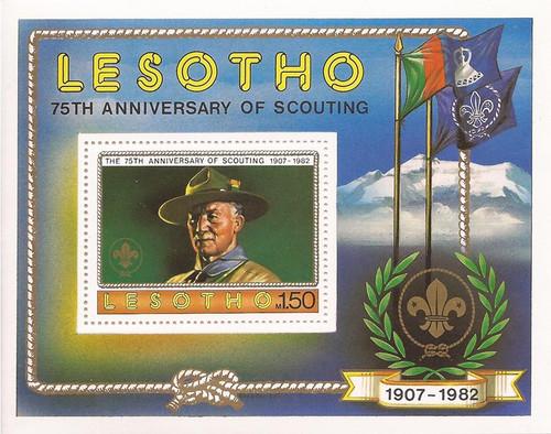 Lesotho - 1982 Scouting Year - Stamp Souvenir Sheet - Scott #362