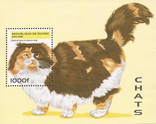 Guinea - 1996 Cats - Stamp Souvenir Sheet - Scott #1367