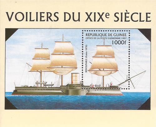 Guinea - 1997 19th Century Warships - Souvenir Sheet - Scott #1402