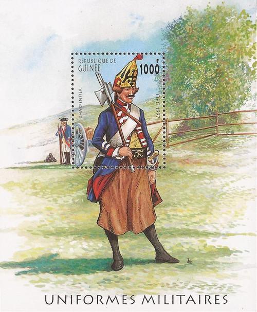 Guinea - 1997 Old Military Uniforms - Souvenir Sheet - Scott #1449G