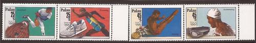 Palau - 1988 Olympics - Set of 2 Stamp Pairs - Scott #B2a-4a