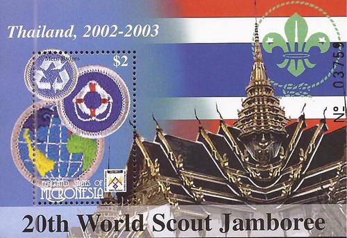Micronesia - 2002 Boy Scout Jamboree - Souvenir Sheet - Scott #501