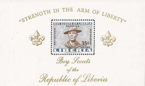 Liberia - 1961 Boy Scouts - Souvenir Sheet - Scott #C136