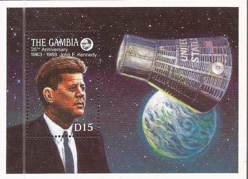 Gambia - 1988 John F. Kennedy - Stamp Souvenir Sheet - Scott #767