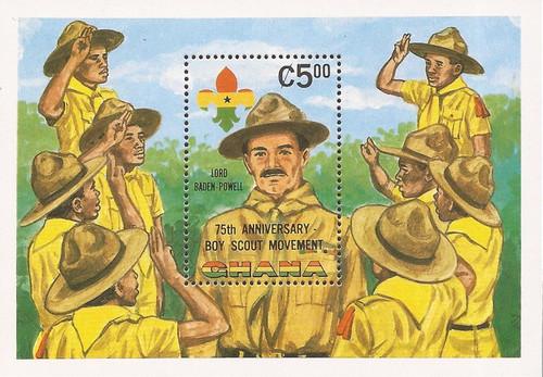 Ghana - 1982 Scouting Year - Stamp Souvenir Sheet - Scott #798