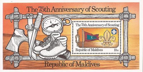 Maldives - 1982 Scouting Anniversary - Souvenir Sheet - Scott #960