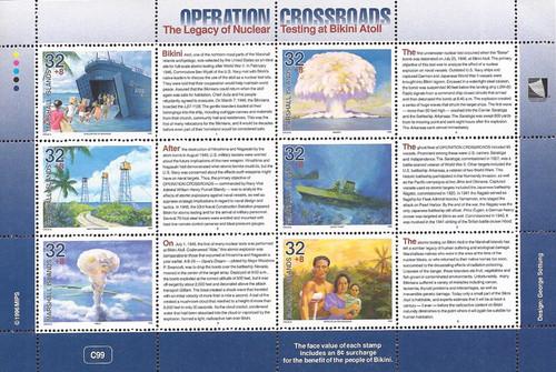 Marshall Islands 1996 Operation Crossroads Sheet of 6 Semi-Postals #B1