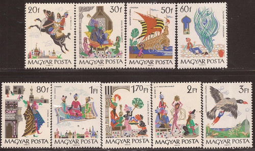 Hungary - 1965 Tales from Arabian Nights - 9 Stamp Set MNH #1716-24
