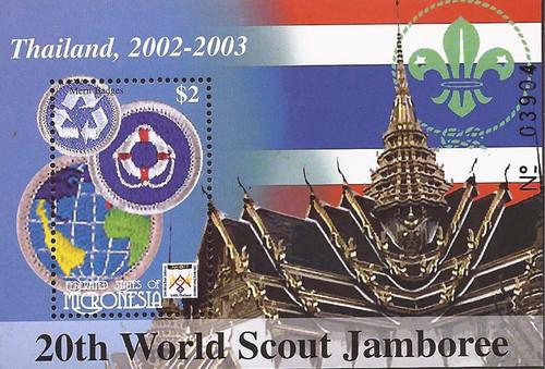 Micronesia - 2002 World Scouting Jamboree - Souvenir Sheet #501