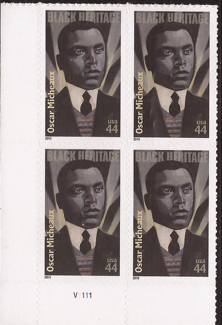 US Stamp - 2010 Black Heritage Director Micheaux 4 Stamp Pl Blk #4464