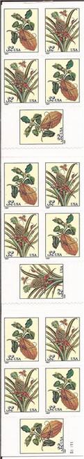 US Stamp - 1997 Botanical Prints - Booklet of 15 Stamps - Scott #BK261