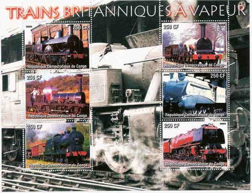 British Vapor Trains On Stamps 108-18