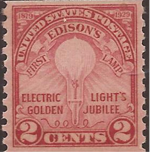 US Stamp - 1929 Electric Light - Coil Pair MNH - Scott #656