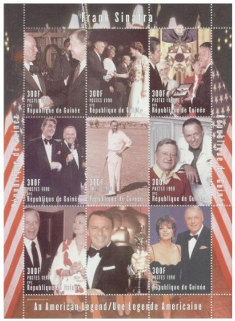 Frank Sinatra & Friends On Stamps - 9 Stamp Mint Sheet GUI2233017