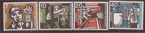 Withdrew 02-25-19-Germany - 1957 Miner Semi-Postals - 4 Stamp Set -   #B356-9