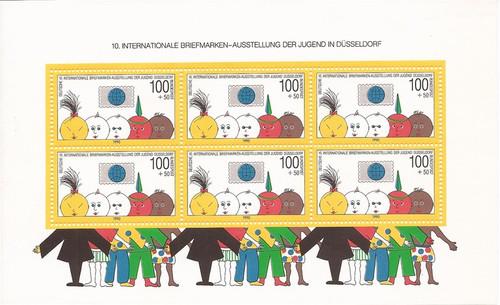 Germany - 1990 Dusseldorf '90 Youth Philatelic Expo - S/S #B693