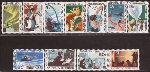 Australian Antarctic - 1966-8 Exploration-11 Stamp Set-  #L8-18