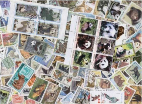 Bears On Stamps Collection  - 50 Different Stamps