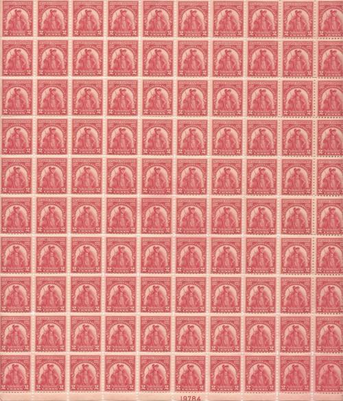 US Stamp - 1929 Sullivan Expedition - 100 Stamp Sheet -   #657