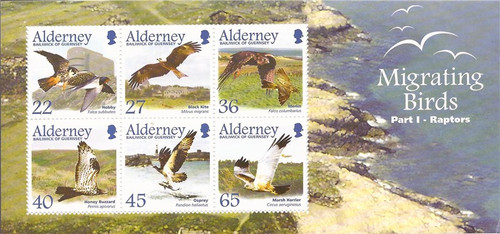 Alderney - 2002 Migrating Birds - 6 Stamp Sheet - Scott #190a