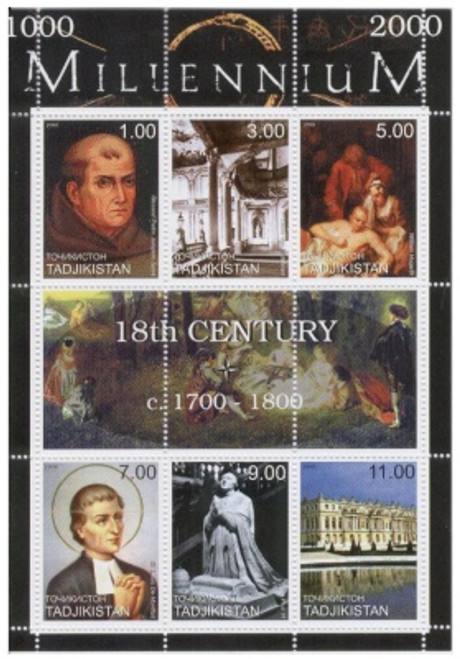 18th Century Highlights On Stamps  - 6 Stamp Mint Sheet TD-M18