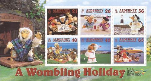 Alderney - 2000 Wombles on Vacation - 6 Stamp Sheet - Scott #153a