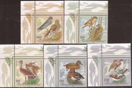 Germany - 1998 Birds - 5 Stamp Set - Scott #B837-41