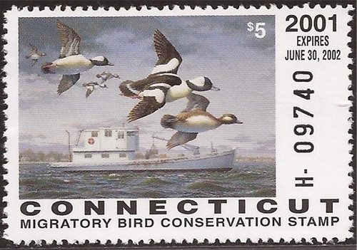 US Stamp - 2001 Connecticut Duck Hunting Stamp - Scott #9