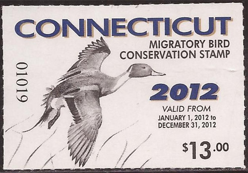 US Stamp - 2012 Connecticut Duck Hunting Stamp - Scott #19
