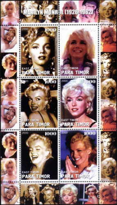2000 Marilyn Monroe On Stamps - 6 Stamp Mint Sheet