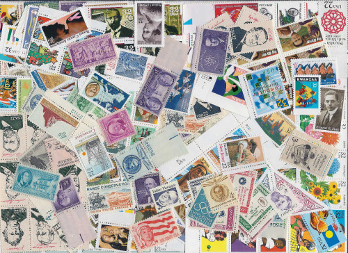 500  U.S. Stamps All Different - Over $100 Face Value - Many Older