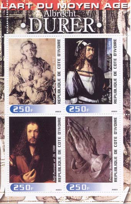 Albrecht  Durer Paintings on Stamps - 4 Stamp Mint Sheet M539