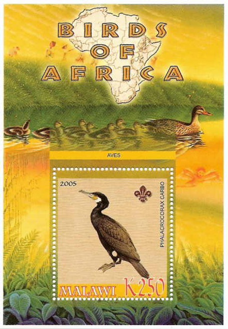 Birds of Africa - Cormorant on Stamps M0990