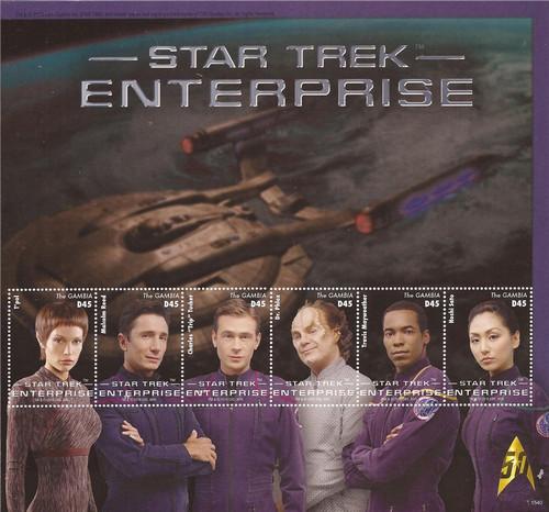 Gambia 2016 Star Trek 50th Anniversary 6 Stamp Sheet 7L-018
