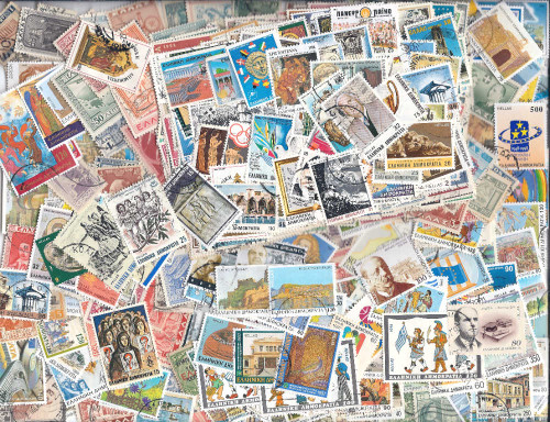 Greece Stamp Collection - 500 Different Collectible Stamps