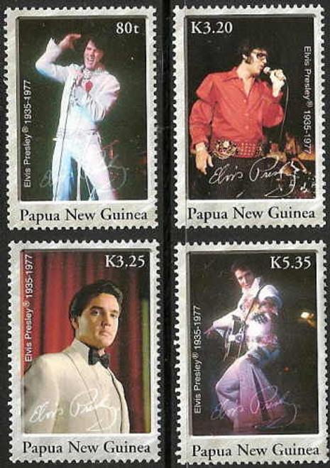 Papua New Guinea - Elvis Presley Set on Stamps 1235-8