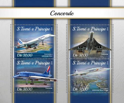 St Thomas - 2018 Concorde Plane - 4 Stamp Sheet - ST18107a
