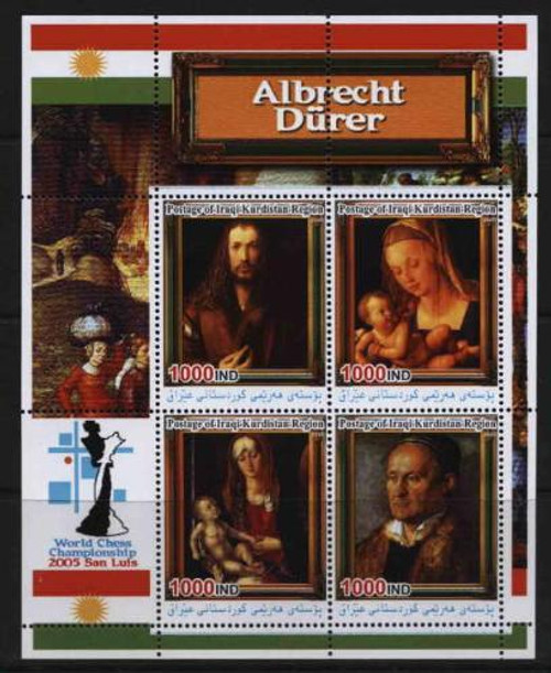 Albrecht Durer Art on Stamps - 4 Stamp Mint Sheet 117-28