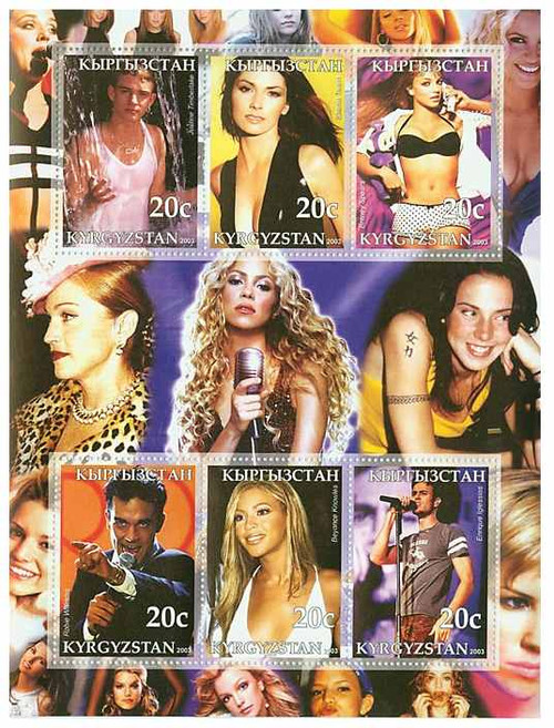 Pop Singers on Stamps