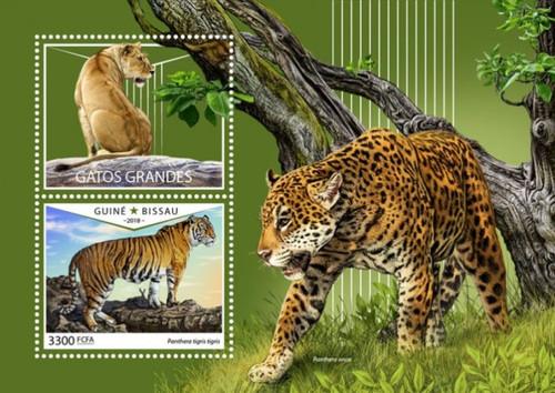 Guinea-Bissau - 2018 Big Cats - Stamp Souvenir Sheet - GB18601b