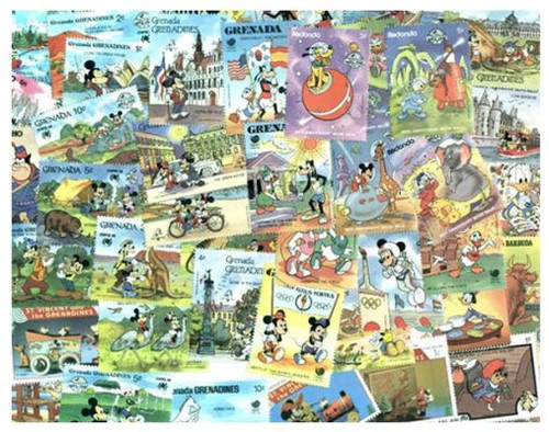Disney Stamp Collection - 400 Different Stamps - All Mint, All British