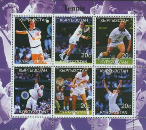 Tennis on Stamps - 6 Stamp Mint Sheet 3539